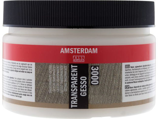 Transparent Gesso Amsterdam All Acrylics 3000